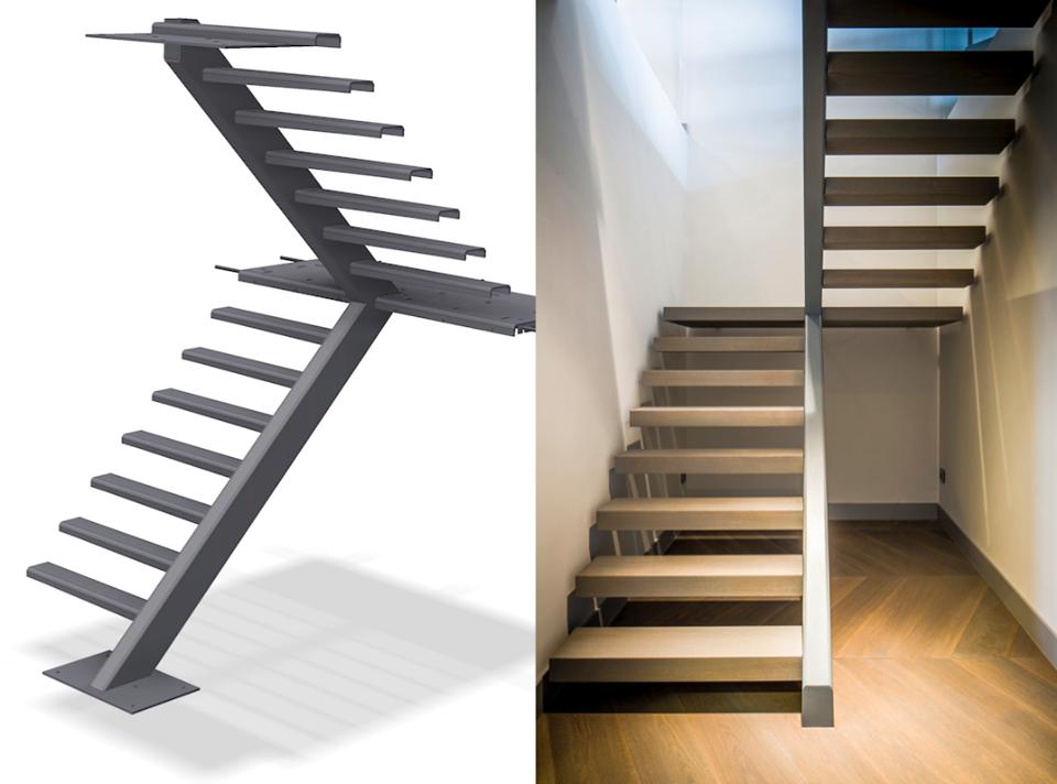 Trappen nieuwe trap in woning aannemer koopman bouw for Binnenhuis trappen